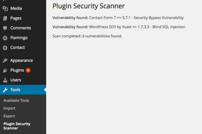 Plugin Vulnerability Scanner